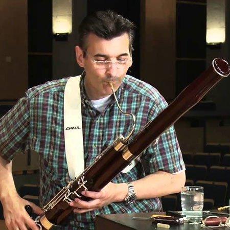 Gustavo Nunez, testimonial dei prodotti Danzi, ance, canne e tubi per fagotto, oboe e clarinetto - Gustavo Nunez, Danzi Reeds's testimonial, reeds, canes and wood for vassoon, oboe e clarinetto